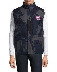 canada goose blue brush camo vest