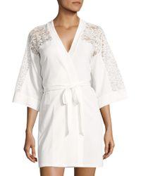 In Bloom - Lace Wrap Robe - Lyst