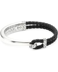 John Hardy - Braided Leather Loop Bracelet - Lyst