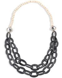 Nest - Horn & Bone Beaded Double-strand Link Necklace - Lyst