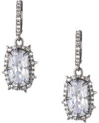 Alexis Bittar - Essentials Swarovski Crystal Framed Cushion Drop Earrings - Lyst
