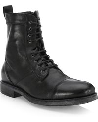 Saks Fifth Avenue - Collection Leather Combat Boots - Lyst