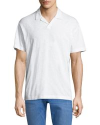 Theory - ??hort-sleeve Cotton Polo - Lyst