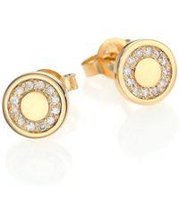 Astley Clarke - Cosmos Diamond & 14k Yellow Gold Mini Stud Earrings - Lyst