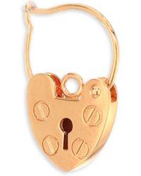 Ginette NY - Providence 18k Rose Gold Single Earring - Lyst