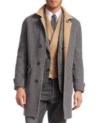 Brunello Cucinelli - Wool & Cashmere Double-faced Overcoat - Lyst