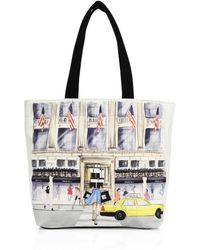 Saks Fifth Avenue - Saksstyle Store Front Canvas Tote - Lyst