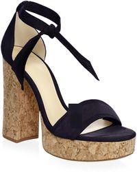 Alexandre Birman - Celine Suede Platform Sandals - Lyst