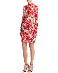 Roberto Cavalli - Rose Ruched Shirtdress - Lyst 97d65a2b0