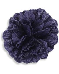 Hook + Albert - Solid Lapel Flower - Lyst