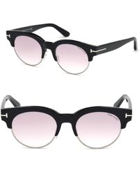 Tom Ford - Henri 52mm Round Cat-eye Sunglasses - Lyst