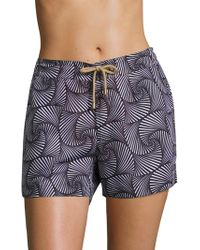 Thorsun - Athena Shell-printed Swim Shorts - Lyst