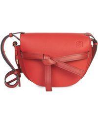 Loewe - Gate Small Embellished Leather Shoulder Bag - Lyst