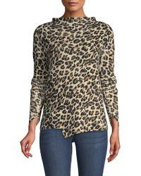 Generation Love - Asymmetric Leopard Jumper - Lyst