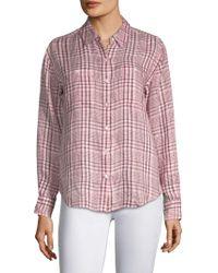 Joie - Lidelle Linen Plaid Shirt - Lyst