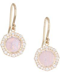 Astley Clarke - Lace Agate & White Sapphire 18k Rose Goldplated Drop Earrings - Lyst