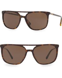Burberry - 57mm Square Aviator Sunglasses - Lyst