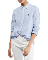 Polo Ralph Lauren - Relaxed Striped Linen Shirt - Lyst