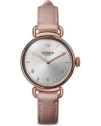 Shinola - The Canfield Leather Strap Watch - Lyst