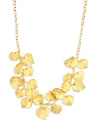 Kenneth Jay Lane - Branch & Leaf Goldplated Necklace - Lyst