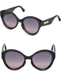 Roberto Cavalli - Oversized Injected Sunglasses With Gradient Lenses/56mm - Lyst