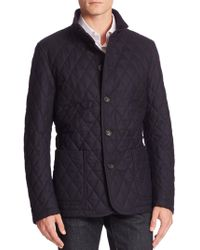 Sanyo - Quilted Wool Blend Jacket - Lyst