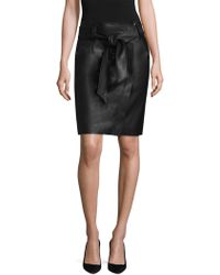 ESCADA - Lajupe Leather Skirt - Lyst