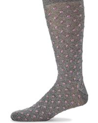 Saks Fifth Avenue - Tiny Tiles Socks - Lyst