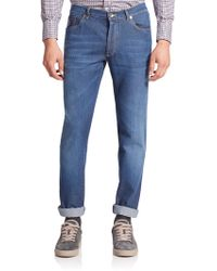 Brunello Cucinelli - Lightweight Skinny-leg Jeans - Lyst