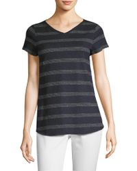 Eileen Fisher - Collection Dot Stripe Tee - Lyst