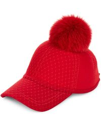 House of Lafayette - For Fur Pom-pom Baseball Cap - Lyst