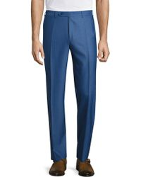 Canali - Traveler Wool Pants - Lyst