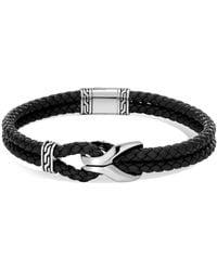 John Hardy - Classic Leather & Silver Bracelet - Lyst