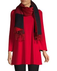 Eileen Fisher - Wool-blend Colorblocked Scarf - Lyst