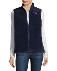 Vineyard Vines - Blackwatch Reversible Quilted Sherpa Vest - Lyst