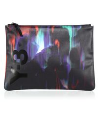 Y-3 - Detritus Printed Document Pouch - Lyst