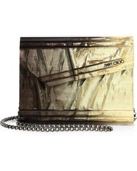 Jimmy Choo - Candy Degrade Crinkled Lame Fabric Acrylic Clutch - Lyst