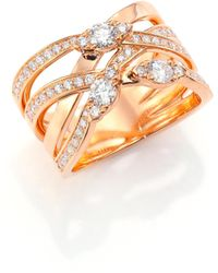 Hearts On Fire - Aerial Diamond & 18k Rose Gold Right Hand Ring - Lyst
