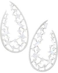 Adriana Orsini - Azure Wrap Hoop Earrings - Lyst