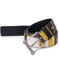 Versace - Classic Saffiano Leather Belt - Lyst