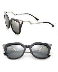 Fendi | Zig-zag 52mm Cat Eye Sunglasses | Lyst