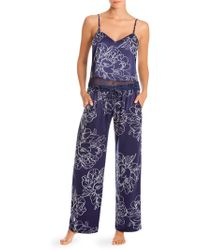 In Bloom - Two-piece Floral Pajama Set - Lyst