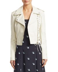 McQ Alexander McQueen | Lace-up Leather Jacket | Lyst