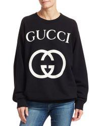 Gucci - GG Logo Cotton Sweatshirt - Lyst
