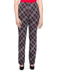 Stizzoli - Straight-leg Wool Argyle Pants - Lyst