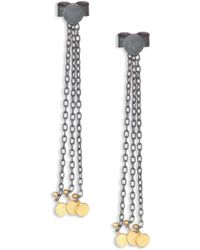 Sia Taylor - Dots 18k Yellow Gold & Sterling Silver Fringe Chain Drop Earrings - Lyst