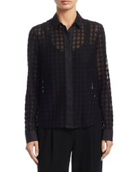 Akris Punto - Punto Lace Long Sleeve Blouse - Lyst