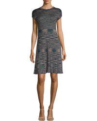 M Missoni - Spacedye Knit A-line Dress - Lyst