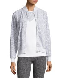Beyond Yoga - Cut It Close Bomber Jacket - Lyst
