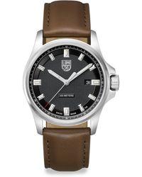 Luminox Illuminated 24/7 Collection Leather-strap Watch - Metallic